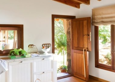 How Beautiful Are These Kitchen Exit Doors fi