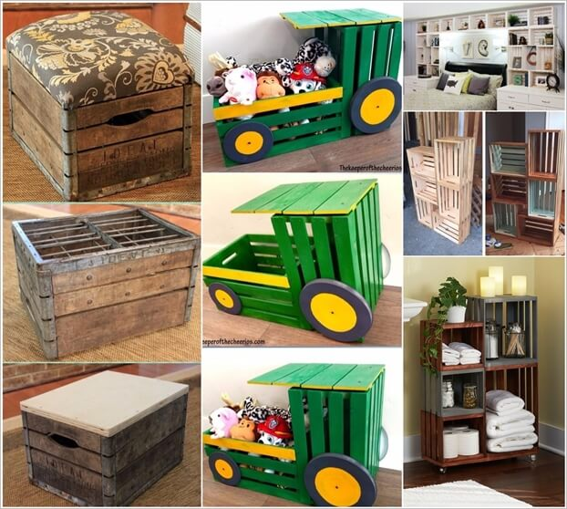wood crate furniture.  furniture inside wood crate furniture