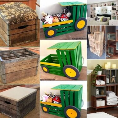 Make Budget Friendly Furniture with Wood Crates fi