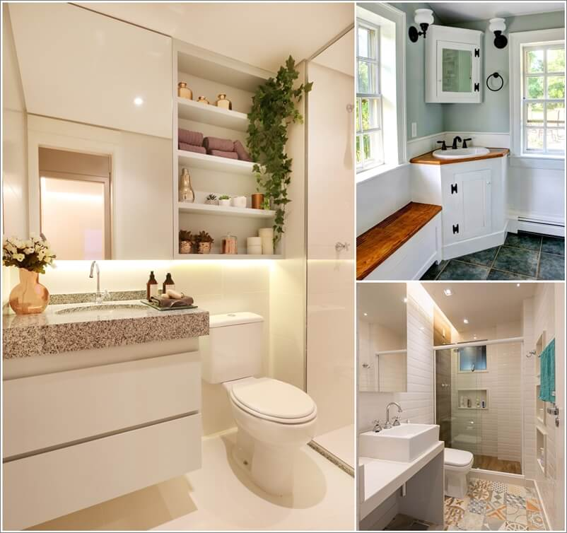 Small bathroom designs that are practical and look bigger for Practical bathroom designs