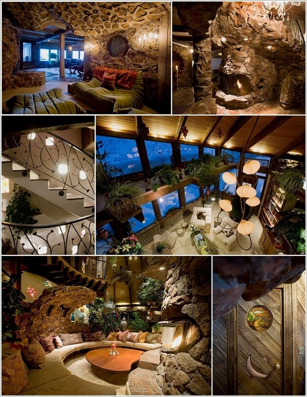A Home Named As Magic Mushroom House With A Design Similar To An Interior  Of A Cave