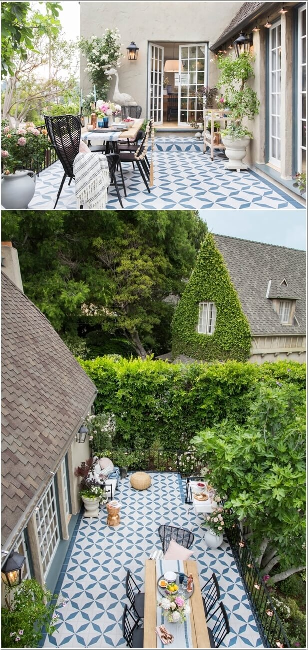 10. Go For Painted Cement Tiles