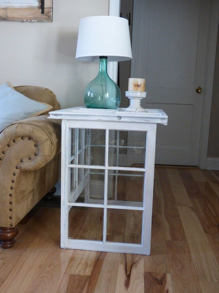 Isn T This Reclaimed Farmhouse Windows Side Table Lovely