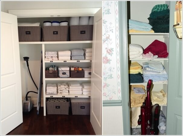 Store The Vacuum Cleaner Inside The Linen Closet