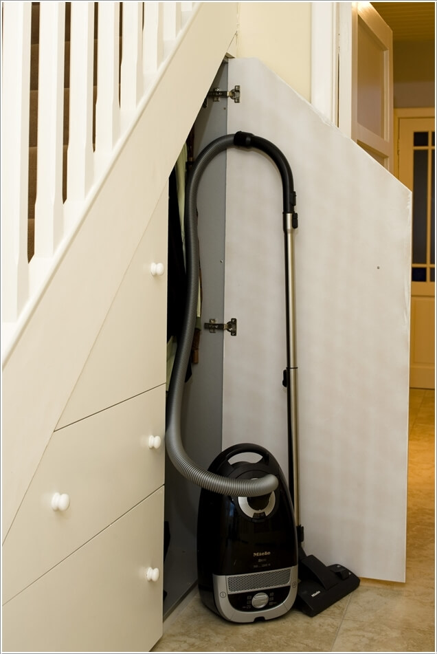Carve Out A Space Under The Stairs By Installing A Closet