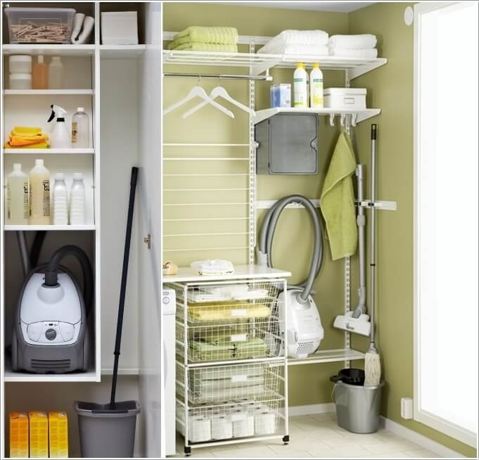 4 Claim Some Space Inside Your Laundry Rooms Open Shelving