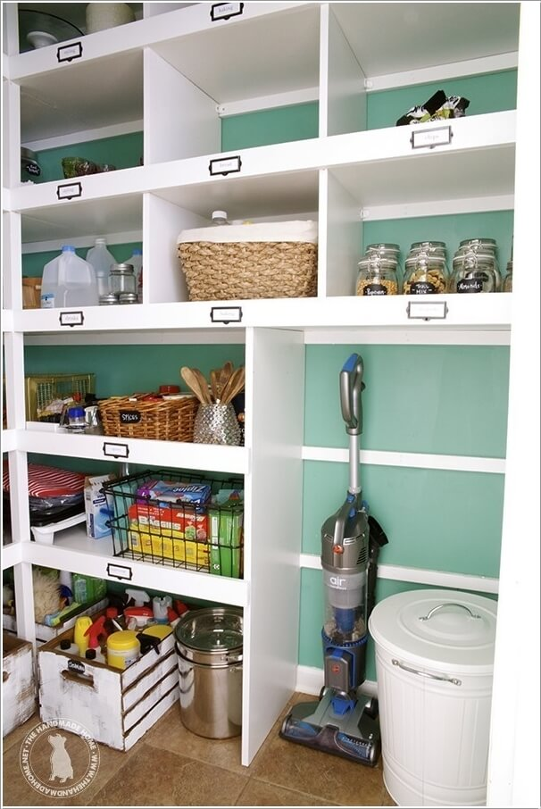 You Can Also Store The Vacuum Cleaner In Pantry By Assigning It A Separate Corner