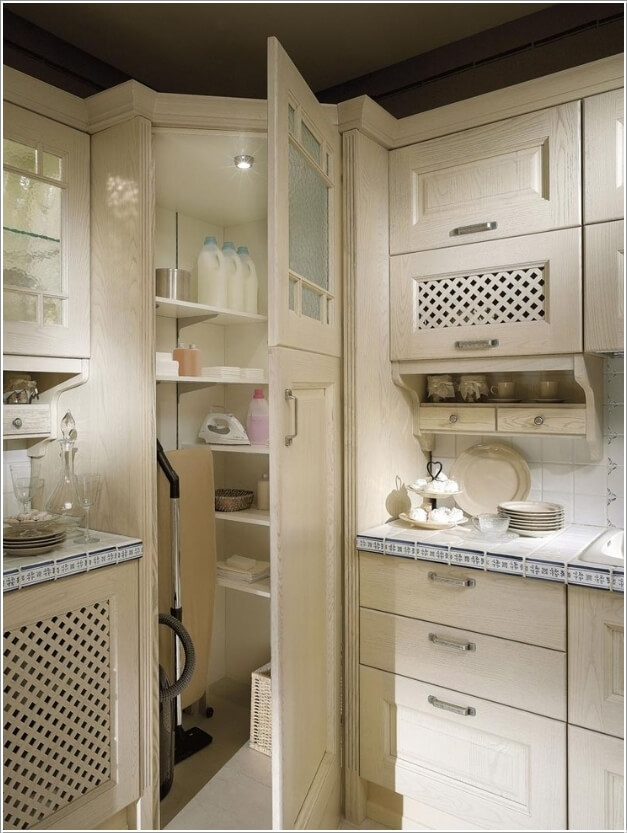 Create A Closet In Any Empty Corner Of Your Kitchen