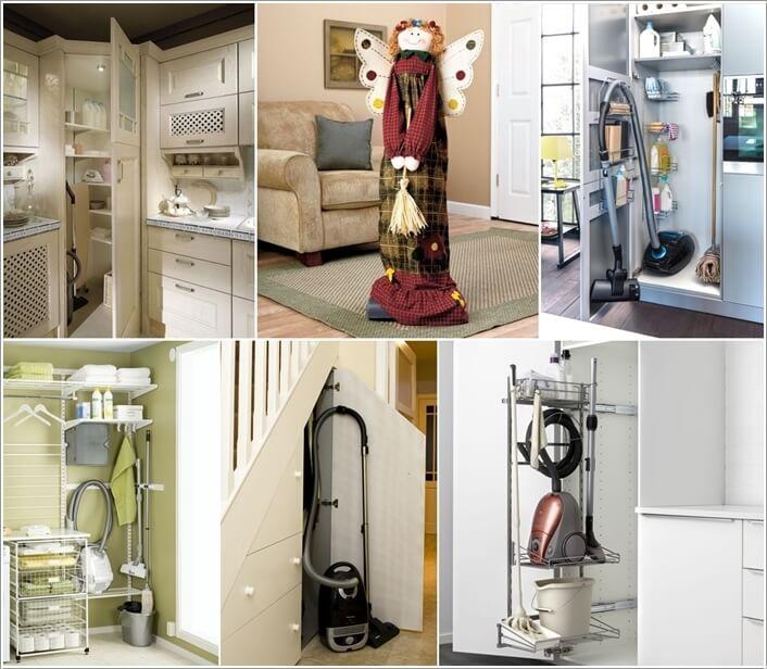 Vacuum Cleaner Storage Ideas