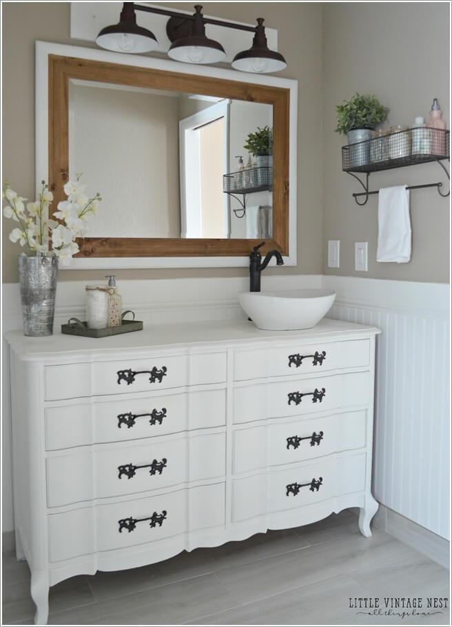 Superieur Turn A Vintage Dresser Into A Bathroom Vanity