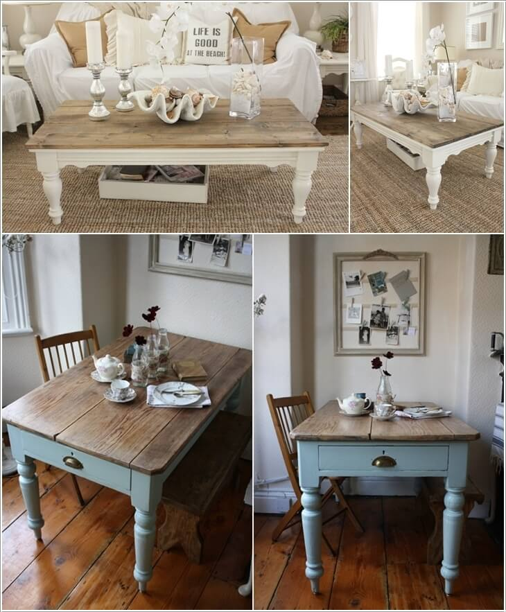 Lovely 10. For A Wood Top Dining Or Coffee Table Paint The Legs Only