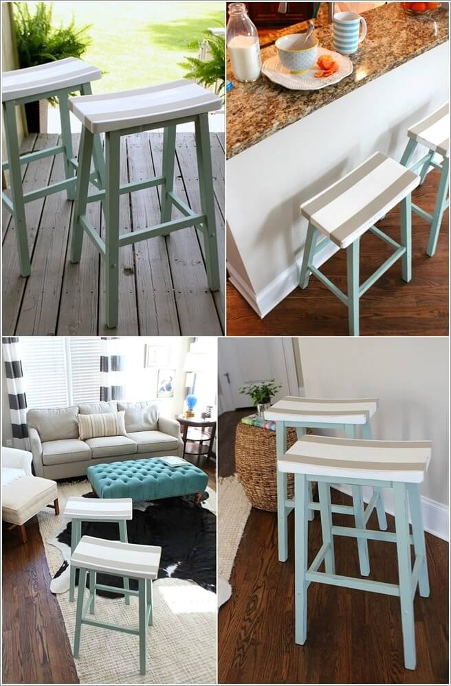 Paint Vintage Stools In Patterns