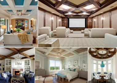 10 Amazing Coffered Ceiling Ideas fi
