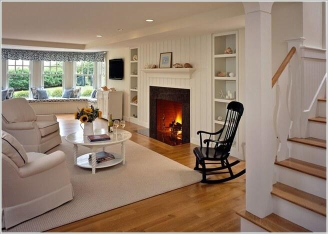 Amish living room furniture ideas for Salotto con camino