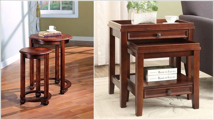 amish living room furniture. 9  Space Saving Nesting Tables Amish Living Room Furniture Ideas