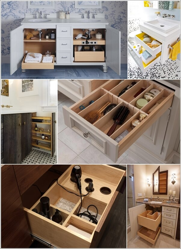 & Clever Bathroom Vanity Storage Ideas