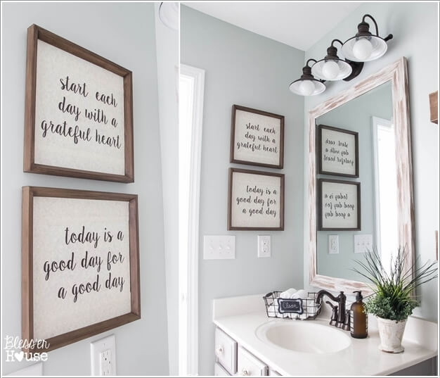 10. Write Or Print Your Favorite Quotes And Display Them In Frames