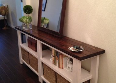 DIY Rustic Console Table fi