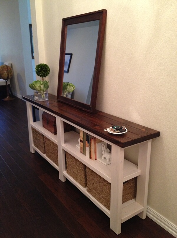 This Diy Rustic Console Table Is Perfect For Your Entryway