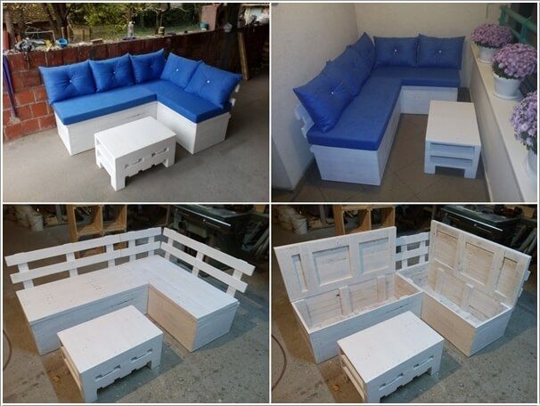 Build A Storage Sectional Sofa With Reclaimed Pallet Wood