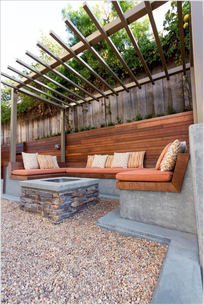 8. Build A Patio Sectional Sofa With Cement That Will Stand All Types Of  Weathers For Many Years