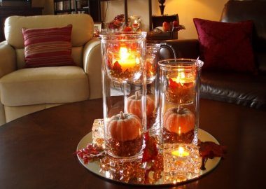 Fall Coffee Table Centerpiece fi