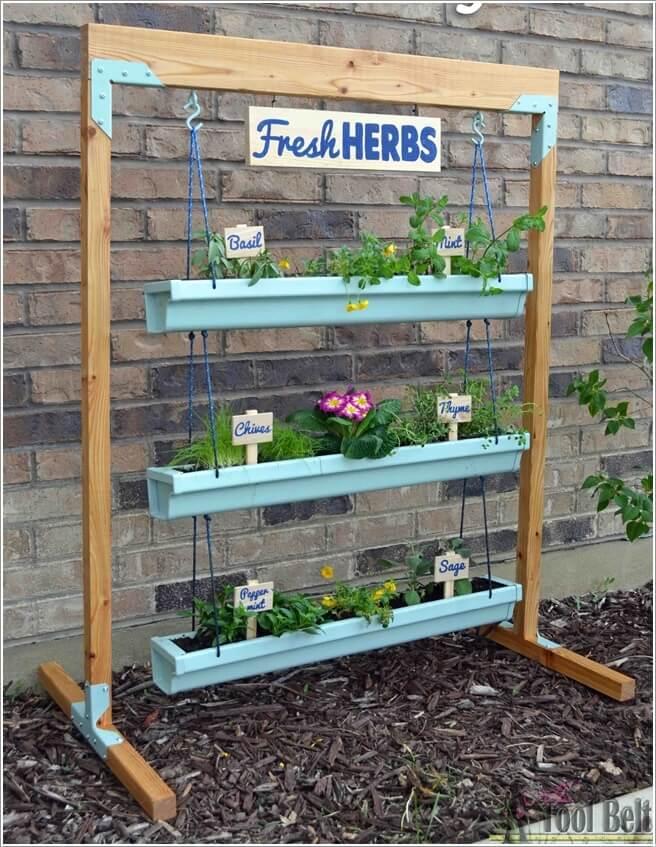 Amazing Gutter Garden Ideas