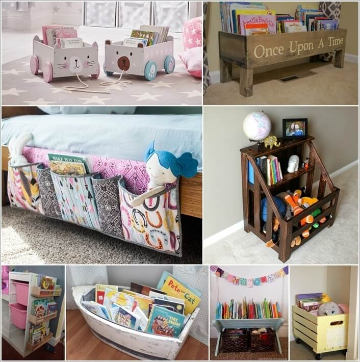 & 15 Wonderful Kids Books Storage Ideas