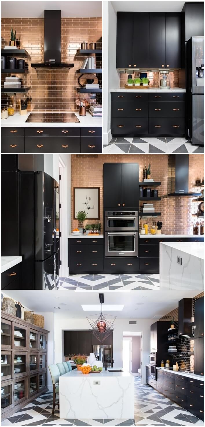 decorate your kitchen with copper accents go for a copper backsplash and make your kitchen a matter of talk