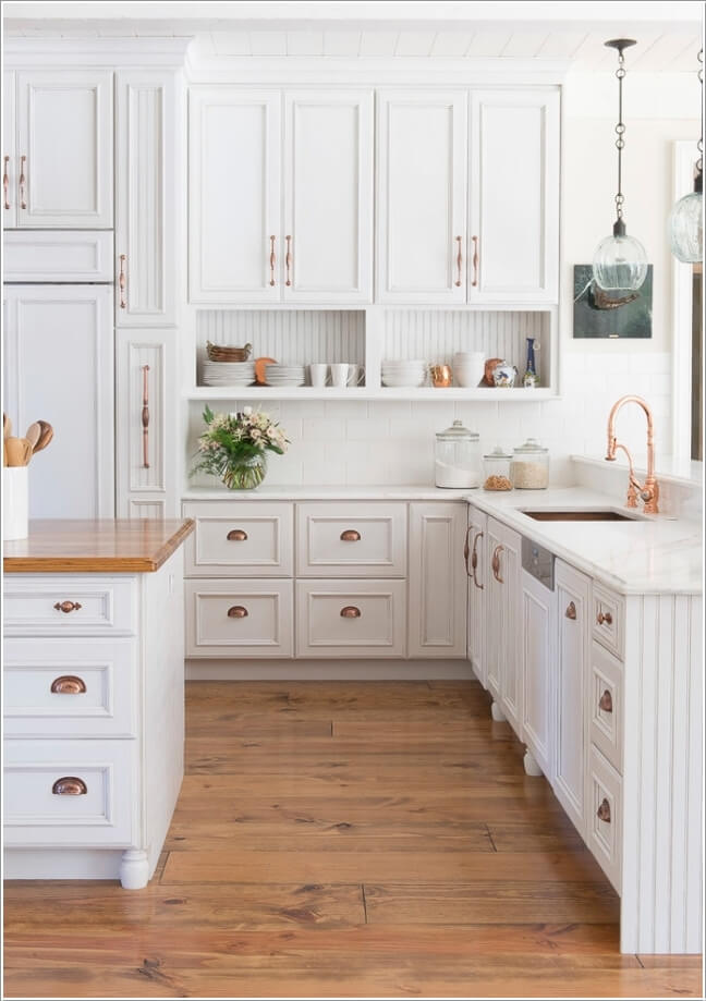 wood copper kitchen accent design | Decorate Your Kitchen with Copper Accents