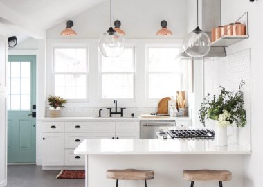 Kitchen with Copper Accents fi
