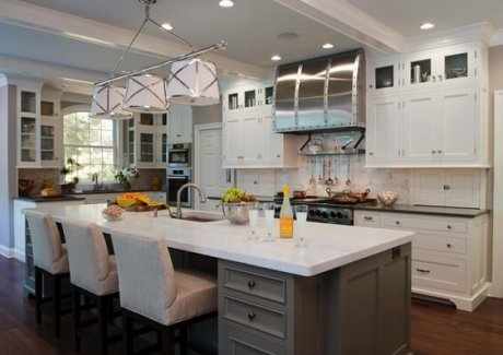 Kitchens with Carrara Marble fi