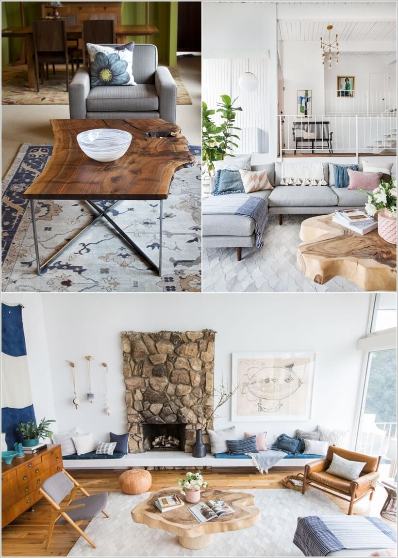 15 Ways to Decorate Your Home with Live Edge Wood