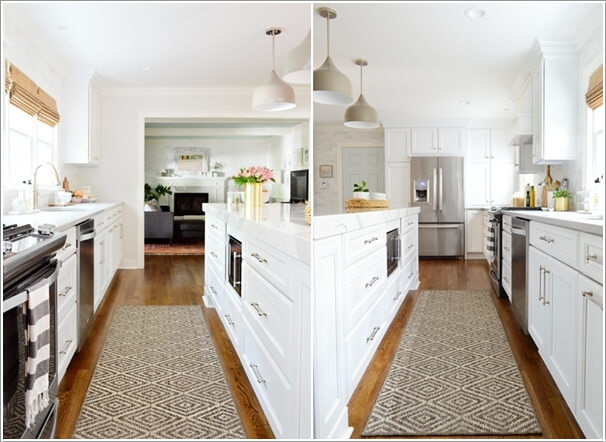 Break The Monotony Of The Length Of Floor With An Area Rug