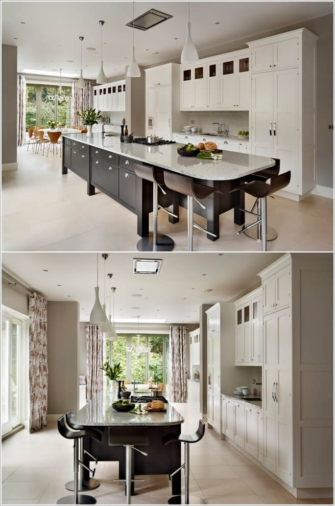 Interesting ideas to decorate long and narrow kitchens for Kitchen designs for long narrow kitchens