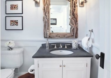 DIY Bathroom Mirror 2