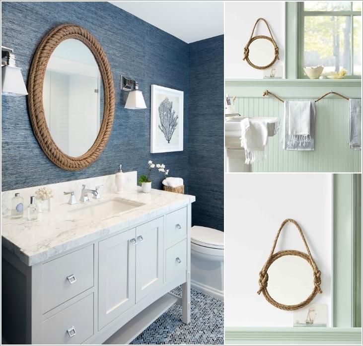 For A Nautical Feel Make Rope Bathroom Mirror