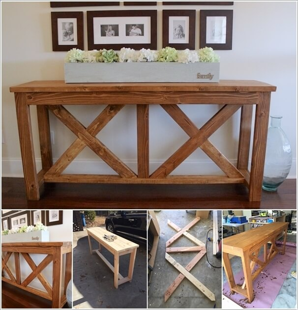 15 fabulous diy entryway table ideas. Black Bedroom Furniture Sets. Home Design Ideas