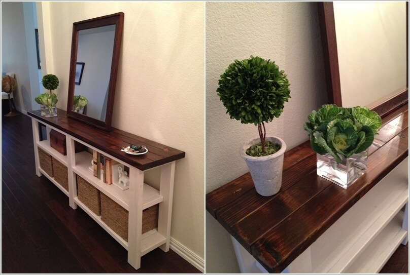 A Beautiful Farmhouse Console Table Built From Just 2x4s