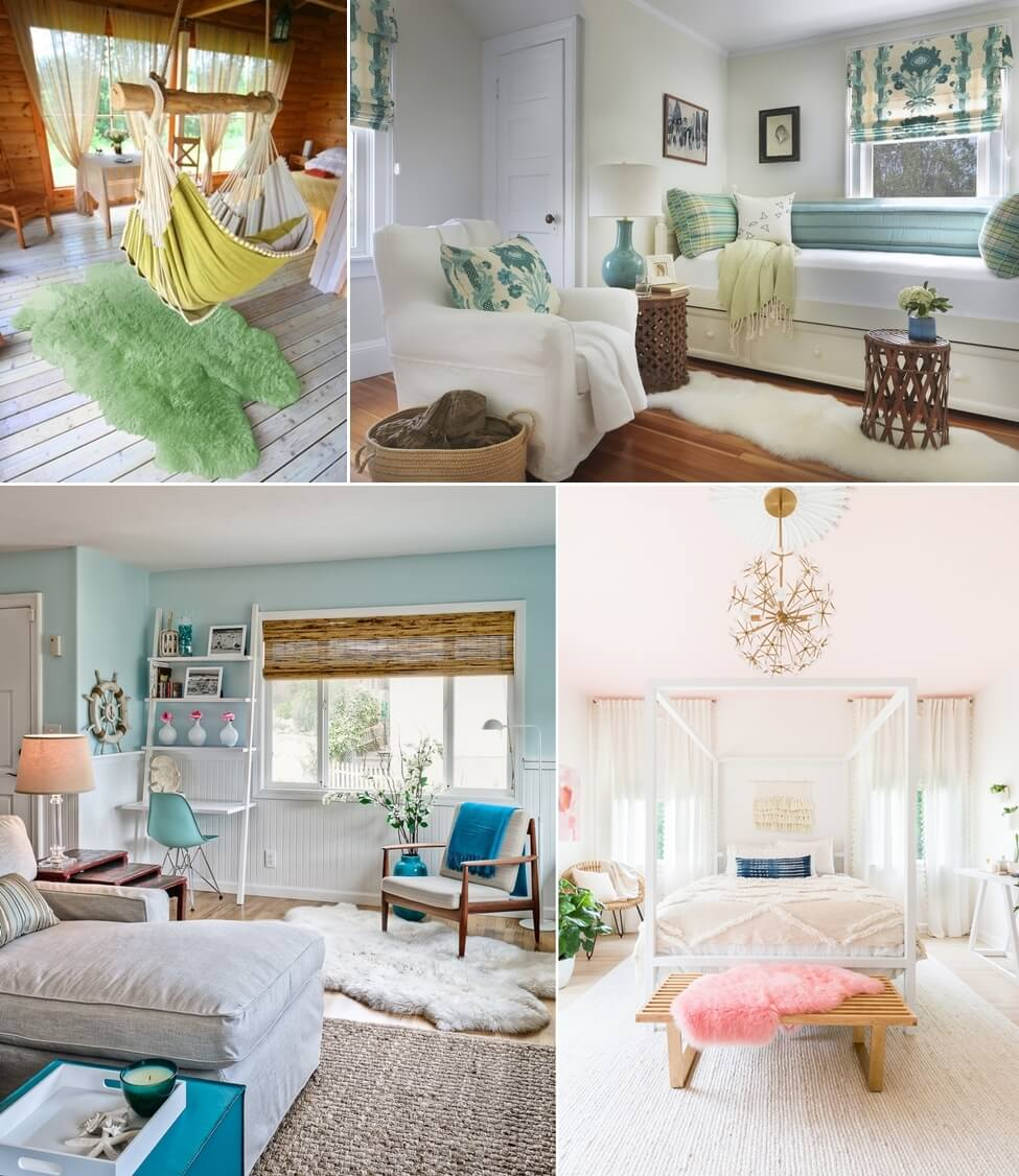 5 Amazing Interior Landscaping Ideas To Liven Up Your Home: 5 Tips To Decorating Your Home With Sheepskin Rugs