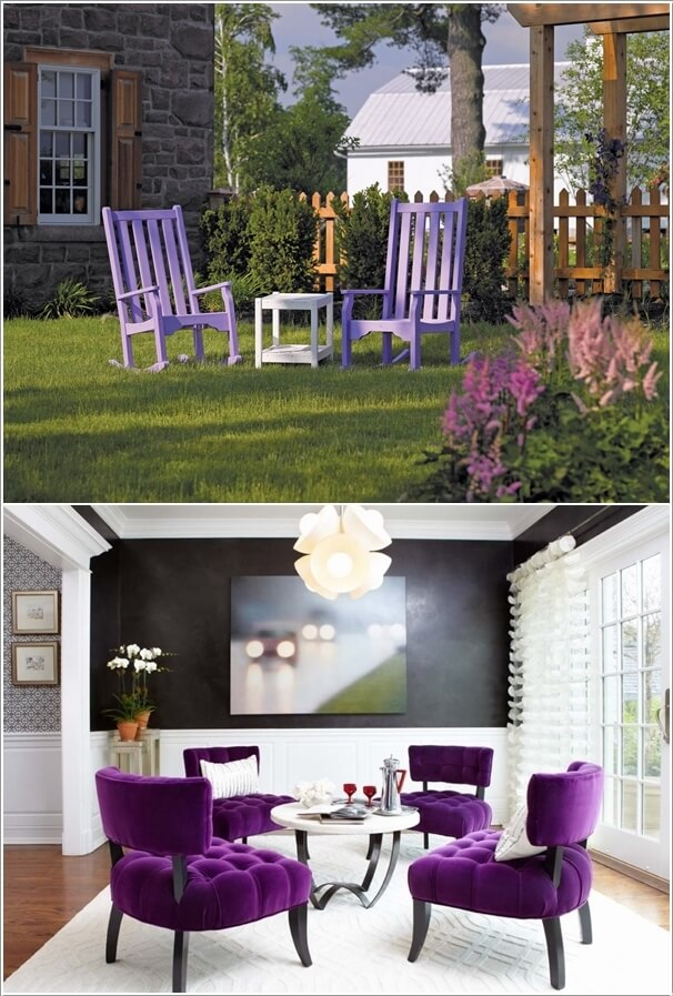 4 Regal Purple And White