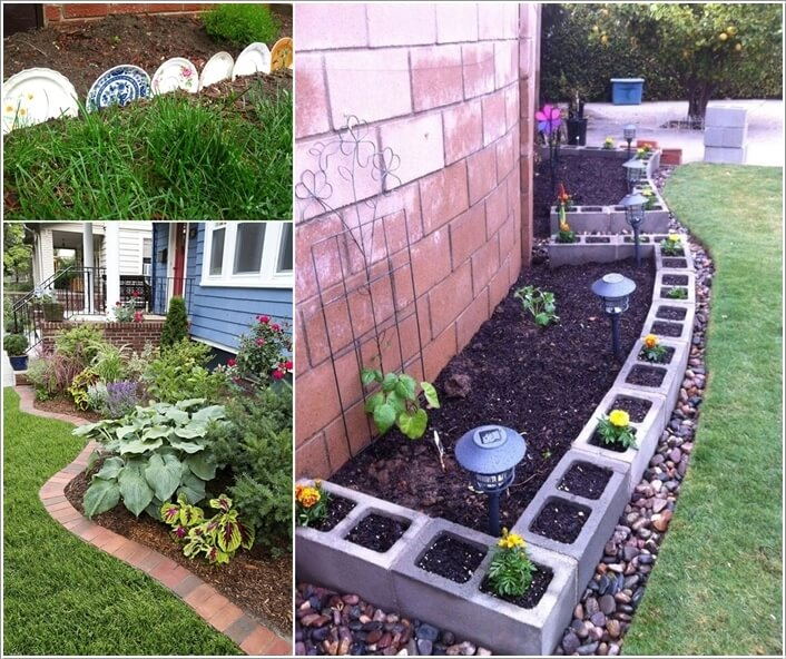 Creative garden edging ideas for Creative small garden ideas