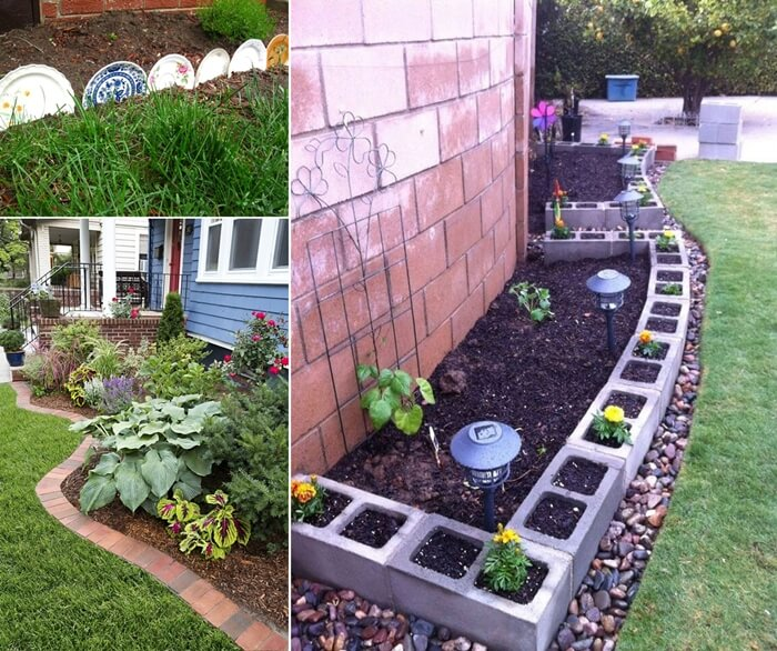 30 Unique Garden Design Ideas: Creative Garden Edging Ideas