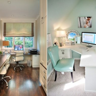Home Office with a Corner Desk fi