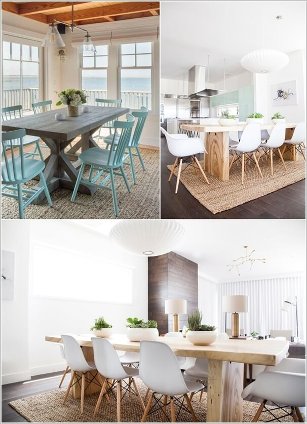 Bring A Breezy Coastal Feel To Your Dining Room With Jute Rug