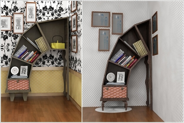 A Leaning Bookcase Named As Disaster By Its Designer