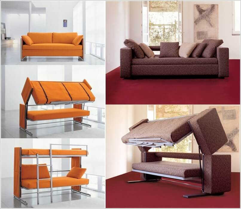An Ingenious Couch That Transforms Into A Bunk Bed