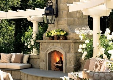 Stunning Outdoor Fireplace Designs fi