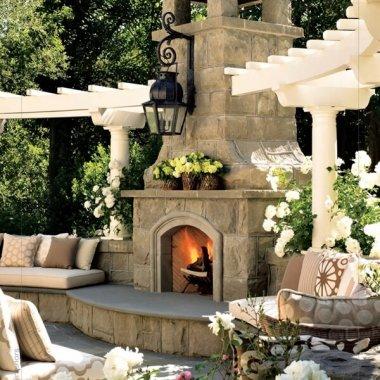 Stunning Outdoor Fireplace Designs fi