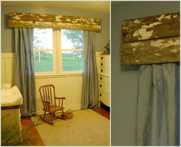 Go For A Rustic Look With Distressed Wood Valance